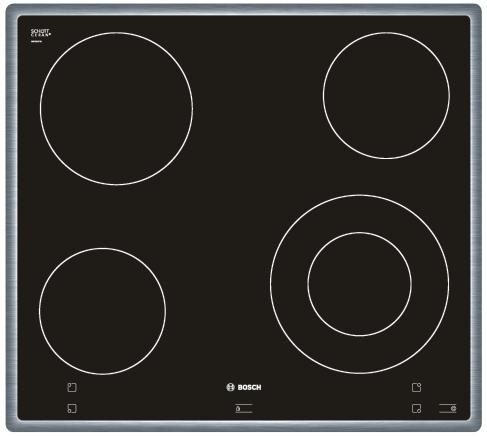 BOSCH NKF 645P14 Varná deska sklo. Bosch NKF 645P14 nerez rámeček