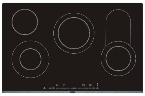 Varná deska sklo. Bosch PKC 875T01- nerez