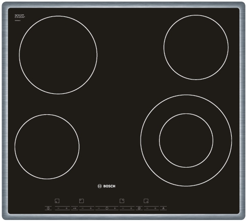 BOSCH PKF 645T14 Varná deska sklo. Bosch PKF 645T14 nerez